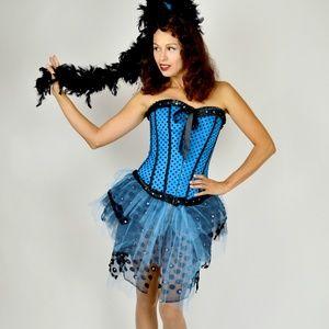 Burlesque Halloween Costume, Polka Dot